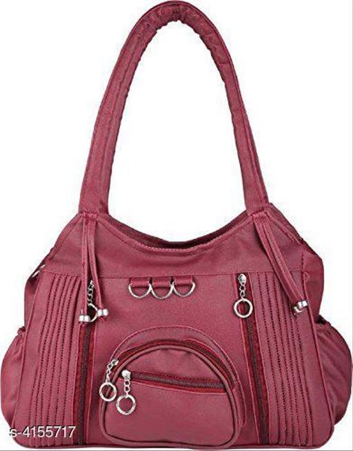 Trendy Women's Purple Faux Leather/Leatherette Handbag