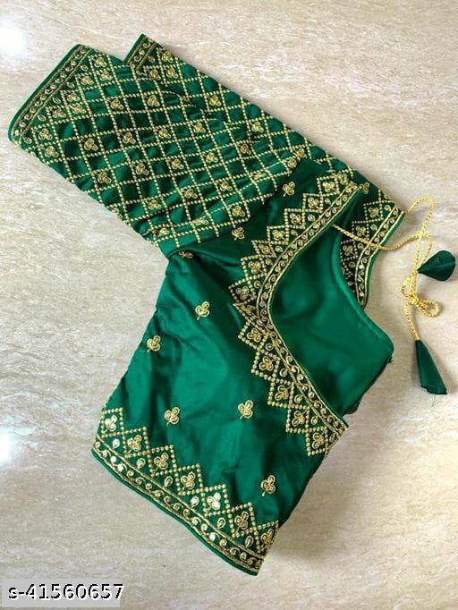 Ethnic Phantom silk Embroidered Work Blouse By SHIVANSH