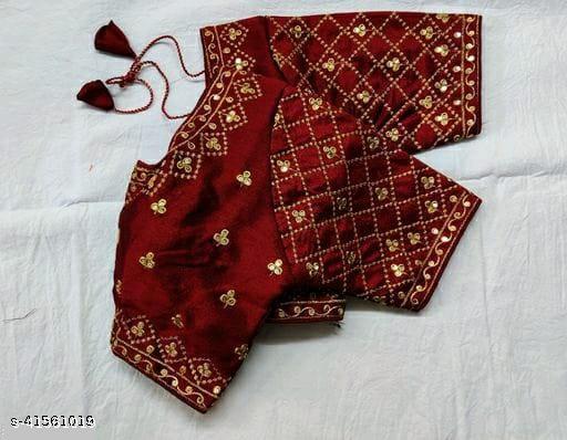 Ethnic Phantom silk Embroidered Work Blouse By NIL FASHION