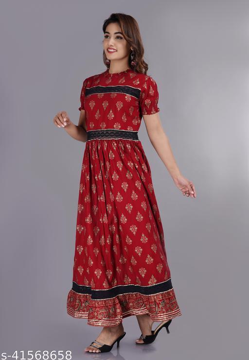 Women's Printed Maxi Dresses Maha Price Drop Sale