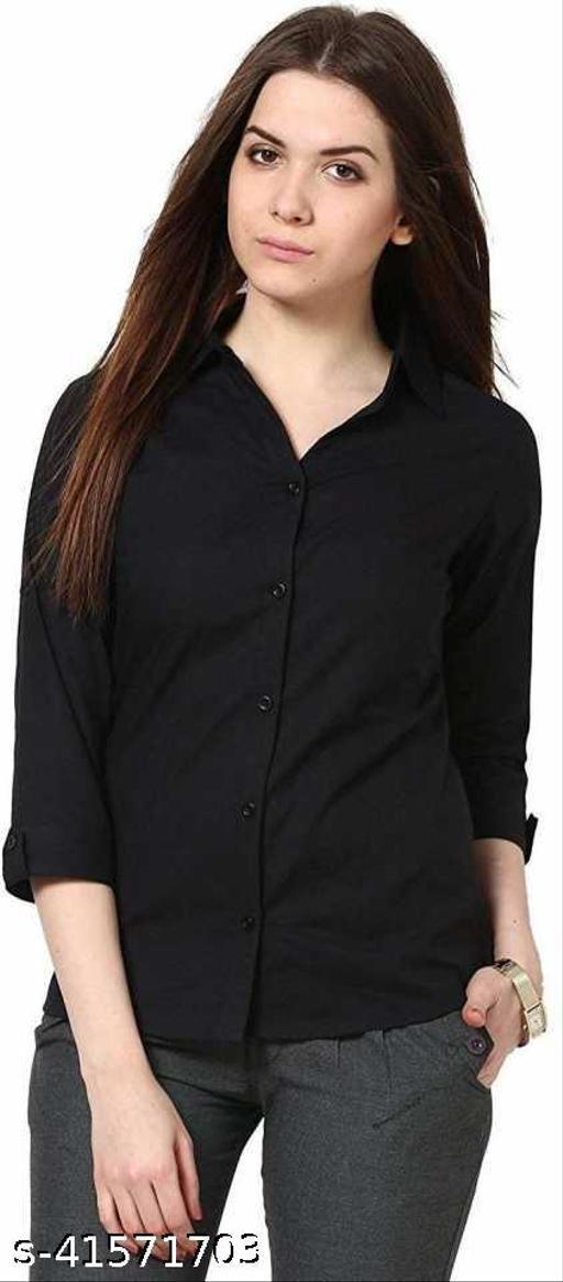 SAMAN FASHION WEARWomen Regular Fit Solid Spread Collar Casual Shirt