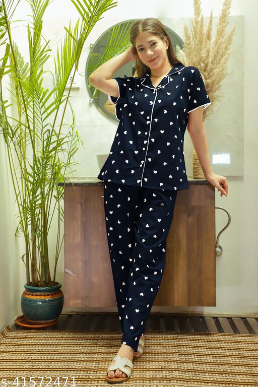 Comfy Cotton Neight Suits For Women
