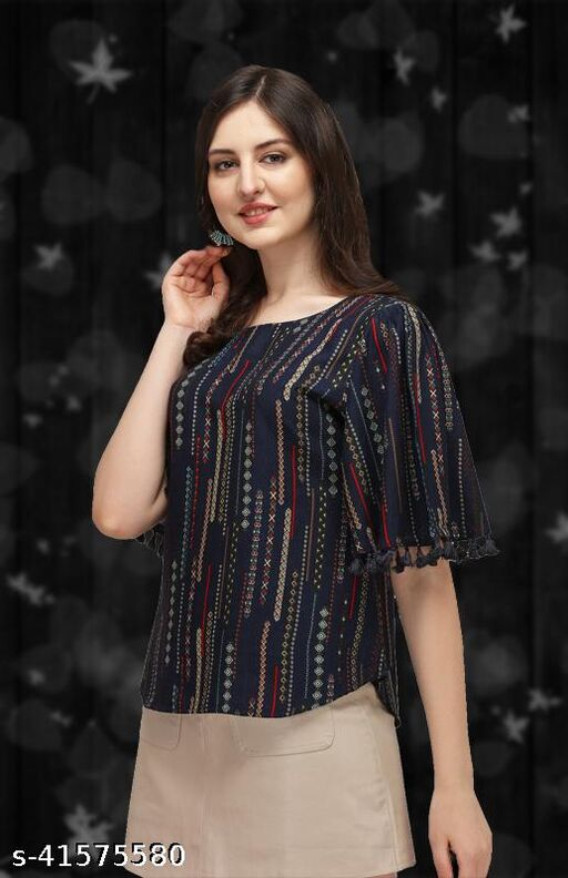 trendy glamorous women tops and tunics for indian girls to look more attractive in women's western tops