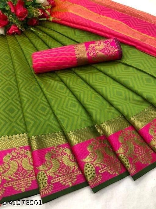 Fancy Cotton-Silk Saree