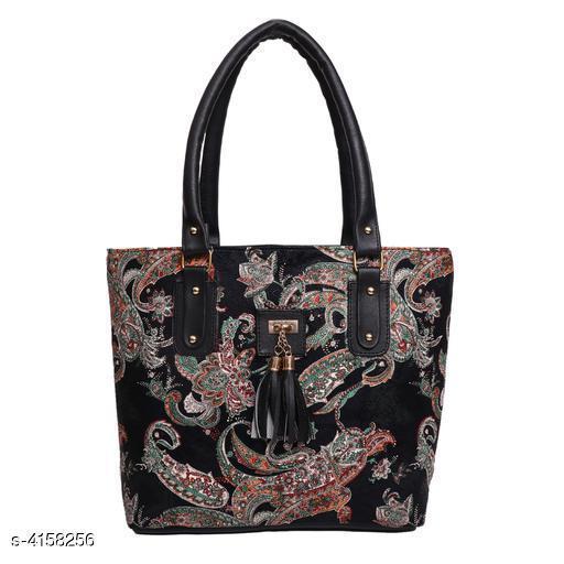 Beautiful Women's Black Faux Leather/Leatherette Handbag