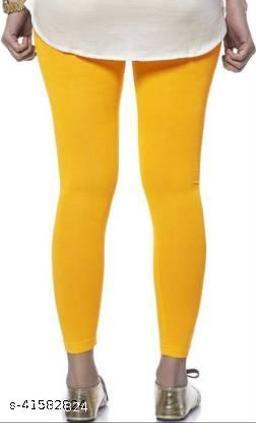 MetroMis Chunidar Cotton Yellow Legging