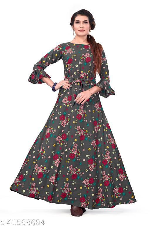 Women's party Wear Pink Color Anarkali Gown