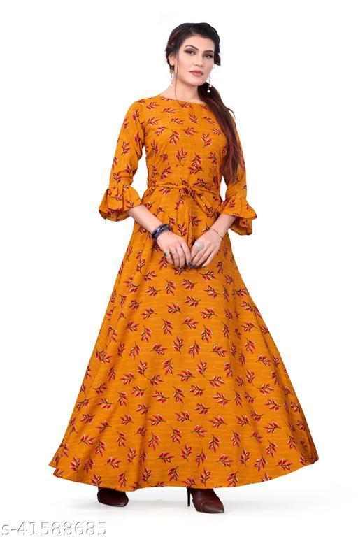 Women's party Wear Maroon Color Anarkali Gown