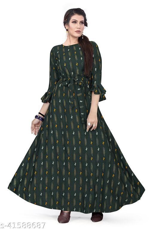 Women's party Wear Turquoise Color Anarkali Gown