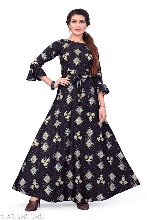 Women's party Wear Blue Color Anarkali Gown