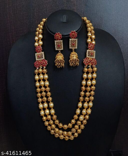 Traditional Copper Long  Jewellery Sets