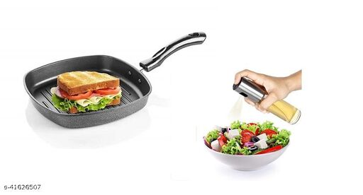 OP- 399  Grill Pan with Spray Bottle Combo