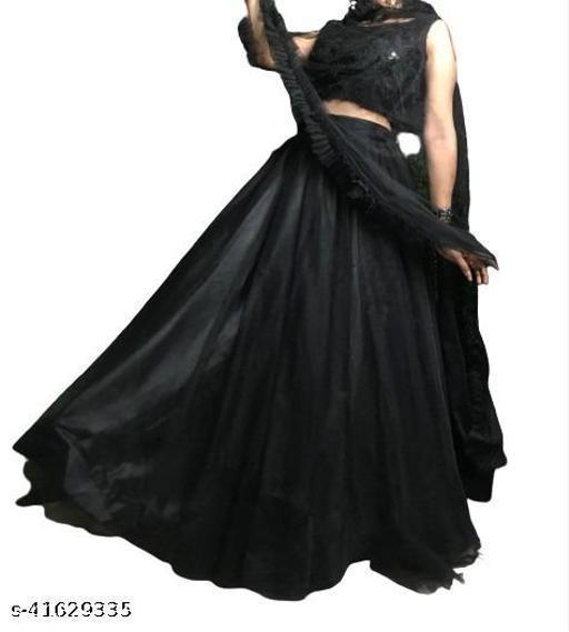 full black colour lehenga choli