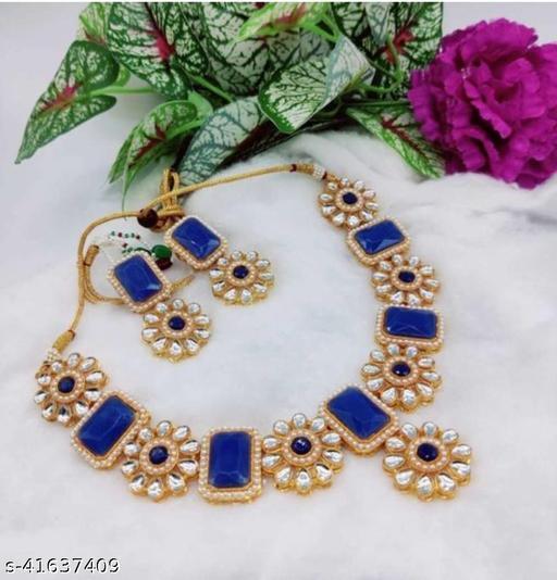twinkle fancy Jewellery set Blue
