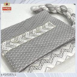 Sanjay Fab, Dazzling, Neck Style, Grey Specail Top, Bottom & Dupatta Printed.