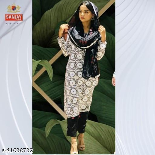 Sanjay Fab, Fashionable, Printed Top Bottom & Cotton Dupatta