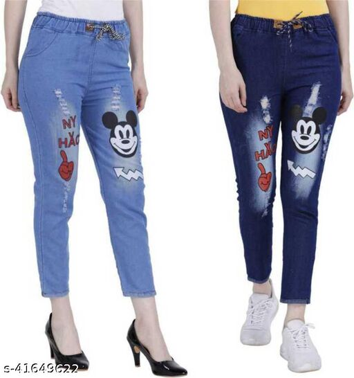 Jogger Fit Combo Jeans