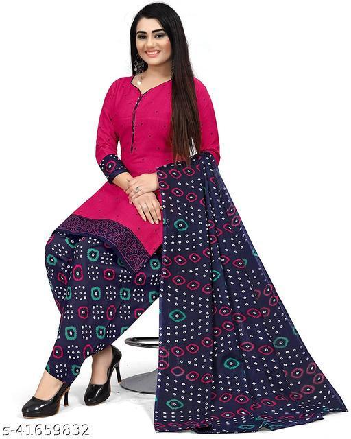 Anny Deziner Women's Maroon Cotton Printed Unstitched Salwar Suit Material
