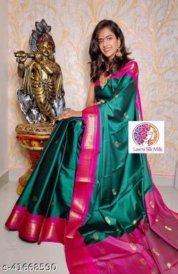Laxmi silk Rama and Pink Paithani Design Cotton silk saree