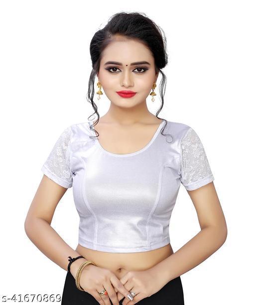 MD VILLA Cotton Lycra Stretchable Blouse  Women's & girls