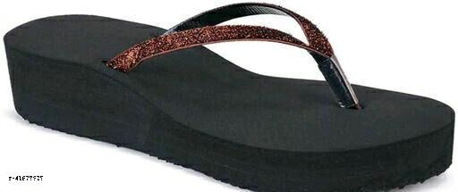 Latest stylish women shimmer flip flop