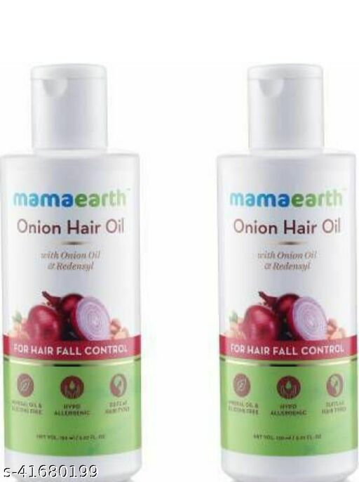 mamaearth Onion Hair Oil for Hair Regrowth and Hair Fall Control with Redensyl, 300ml
