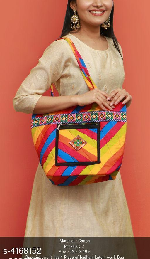 Trendy Women's Multicolor Handbag