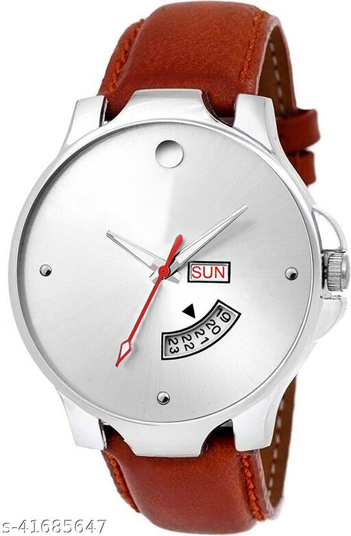 Seetu Latest update Mavado Silver full day date wrist watch for men for boys Pack of 01 watches