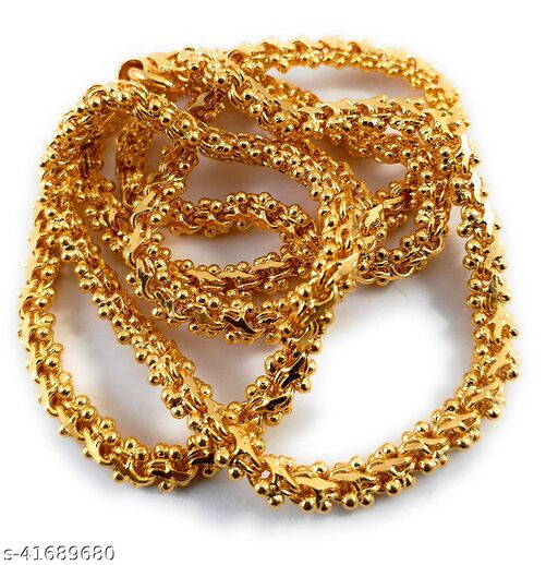 Glory Jewels Copper Gold Plated  Chain For Women (24 Inch)