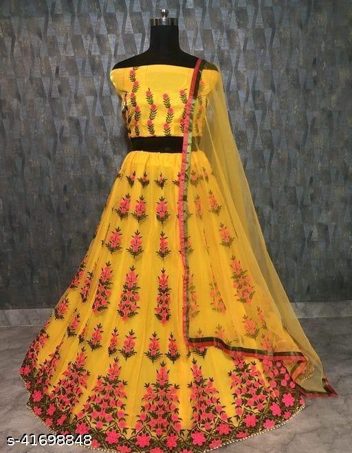 Gorgeous Bangalori Silk Women's Lehengas (Yellow)