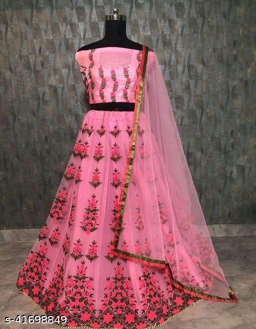 Gorgeous Bangalori Silk Women's Lehengas (pink)