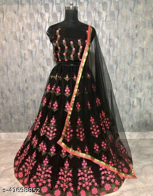 Gorgeous Bangalori Silk Women's Lehengas (Black)
