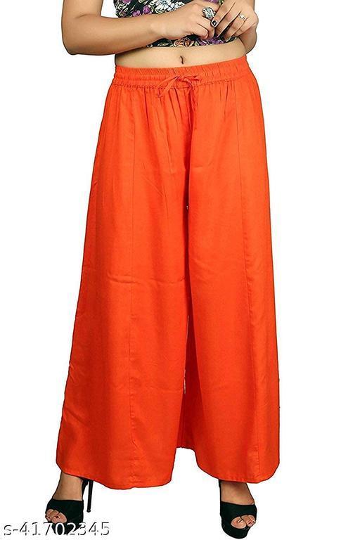 Women Ethnic Wear Rayon Plazo Pants Trouser