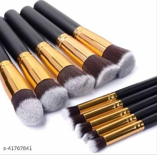 Pappilio Premium Synthetic Kabuki Makeup Brush Set(Pack of 10)