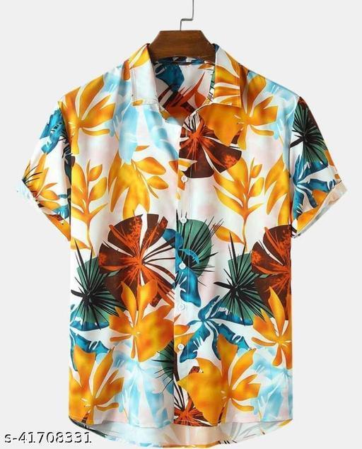 GLITZKIVA Men Slim Fit Printed Casual Shirt