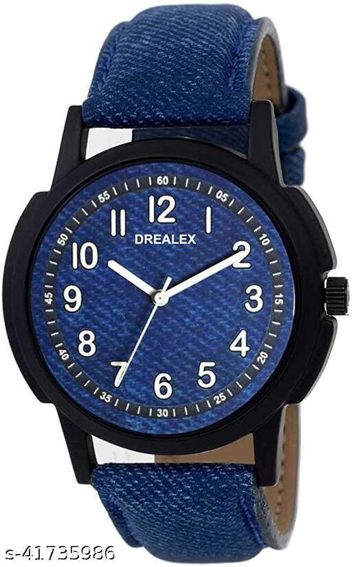 Seetu Blue jeans strap  wrist round dial watch for men for boys Pack of o1 watches