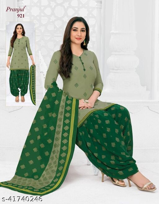 Exclusive collection of PRANJUL pure cotton unstitch suits & Dress Material for Women and Girls