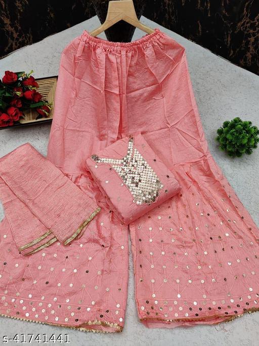 womens trendy exclusive sharara dress material