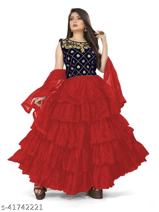fency net embroidery gowns