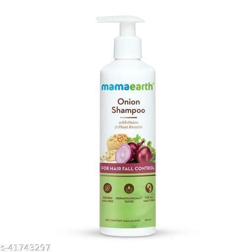 MamaEarth Onion Hair Fall Shampoo for Hair Growth & Hair Fall Control  (250 ml)