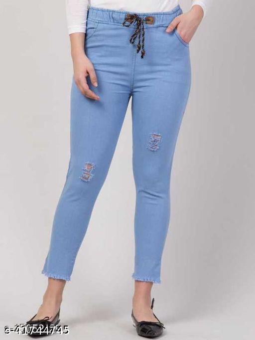 Evergreen Trendy Denim Women Joggers/Jeans For Girls