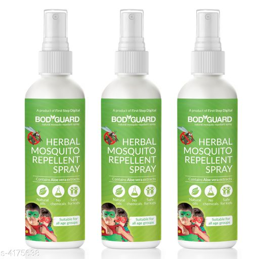 Bodyguard Natural Anti Mosquito Spray - 100 ml (Pack of 3)