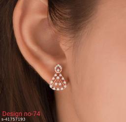 CZ Studded Emblished Earring