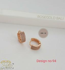 Rose Gold Bali Earring