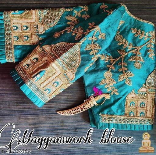 TAJ MAHAL-Jari Embroidery Work Ready Made Blouse