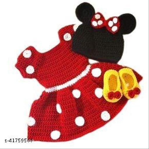 Bouncing Babies stylish woolen sweater cum pullover set for girls