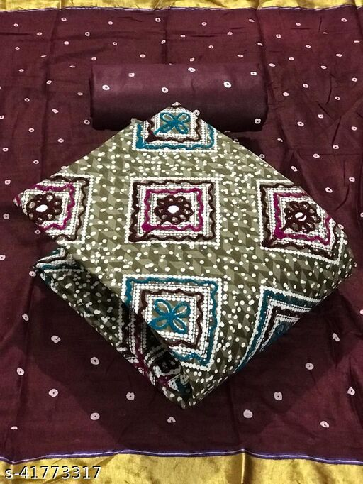 NATUREWELL PURE  COTTON BATIK PRINT WITH EMBROIDERY WORK
