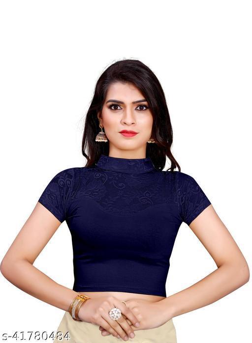 MD VILLA Readymade Cotton Lycra Stretchable Saree Blouse