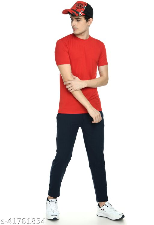 Ample Navy Blue color Stretchable Track Pant