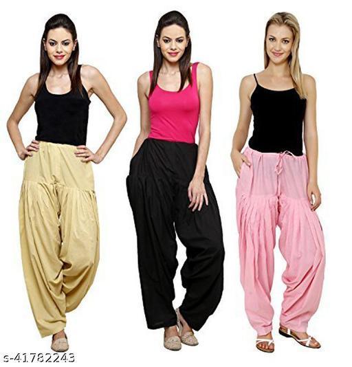 Cotton FreeSize Patiala Stiched Salwar for Women & Girls,Combo 3
